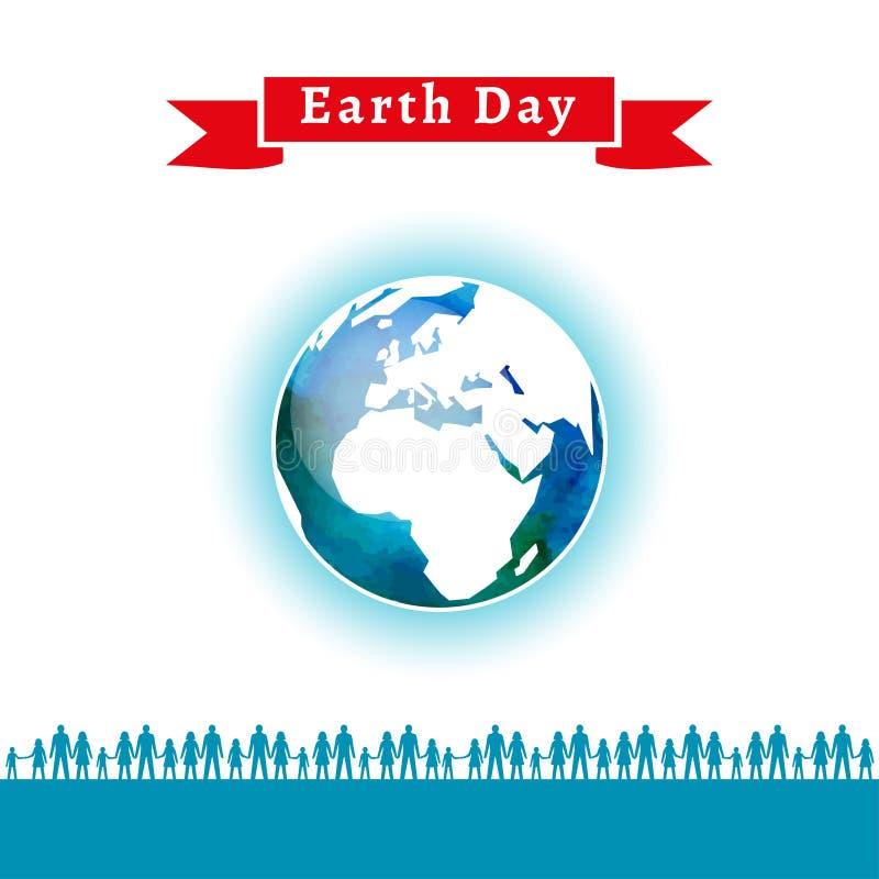 также вектор иллюстрации притяжки corel Плакат дня земли иллюстрация вектора