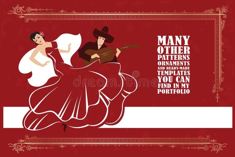 также вектор иллюстрации притяжки corel Фламенко танцев женщины иллюстрация штока