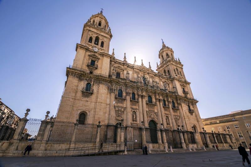 Также вызванный собор святой церков в Jaen, Предположением собора девственницы, взятием в Jaen, Испании стоковые фотографии rf
