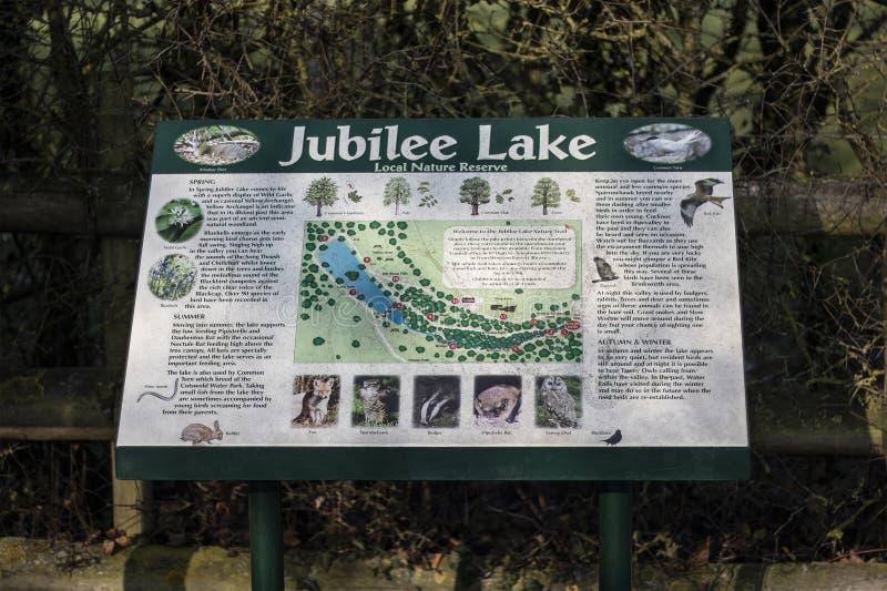 Такса Wootton местного заповедника озера юбилей королевская стоковое изображение
