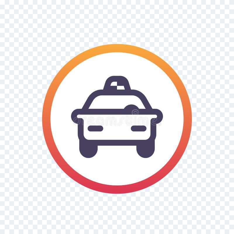 Такси, линия значок кабины иллюстрация штока