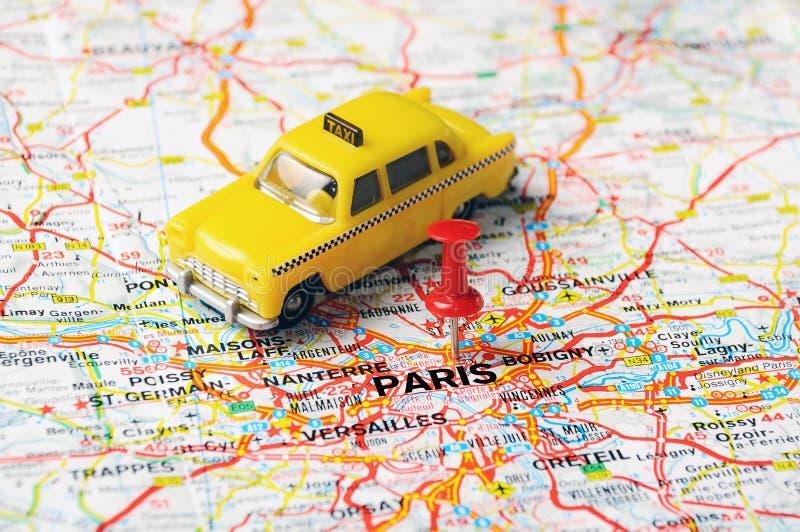 Такси Парижа, Франции стоковые фотографии rf