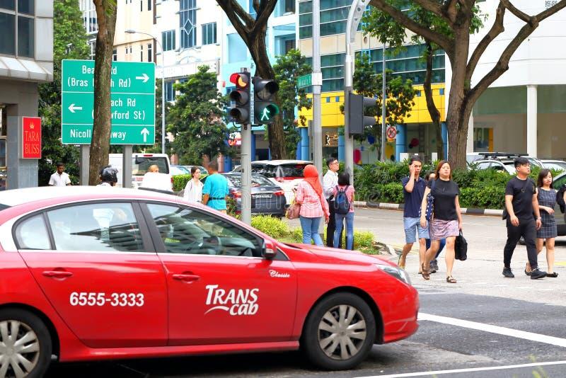 Такси Сингапура стоковые изображения rf