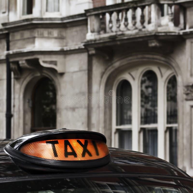 таксомотор знака стоковые изображения rf