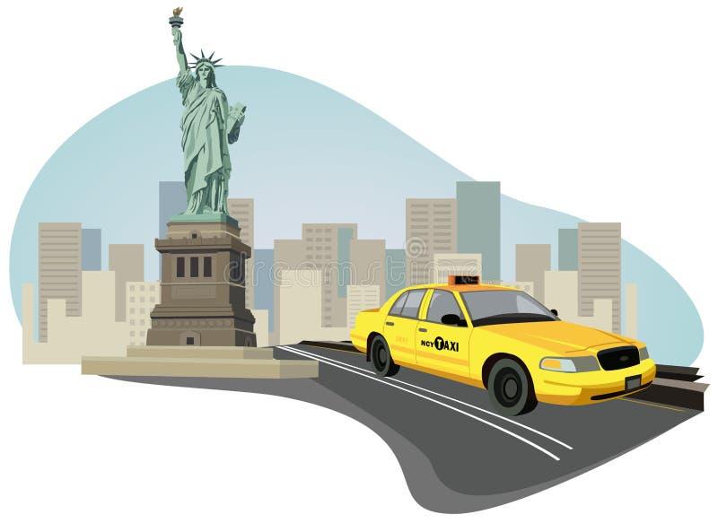 таксомотор york города новый иллюстрация вектора
