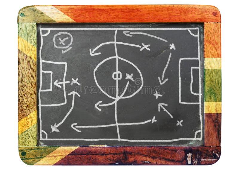 тактика футбола доски grungy стоковые изображения