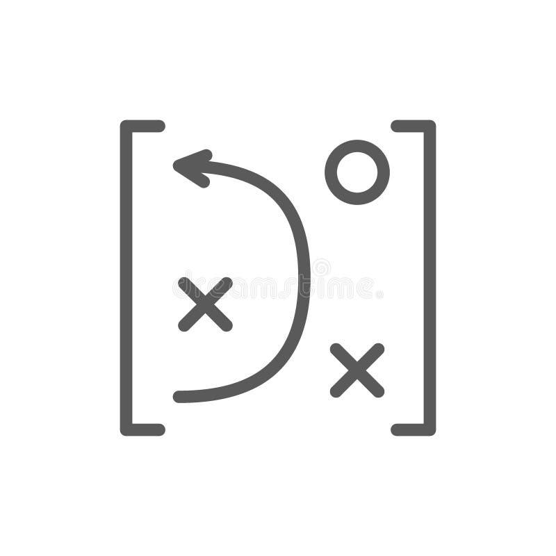 Тактик игры замышляют линию значок иллюстрация вектора