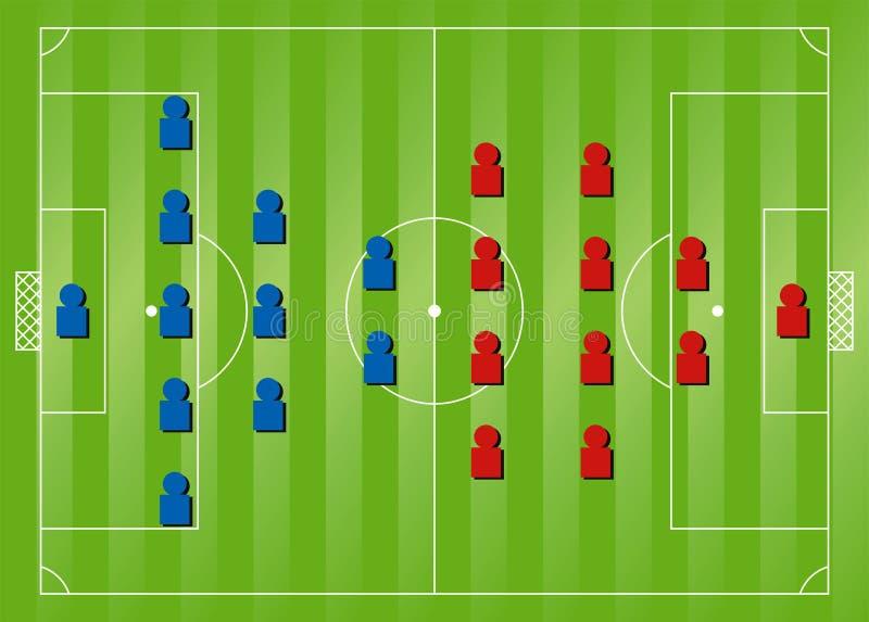 тактик футбола образования иллюстрация штока