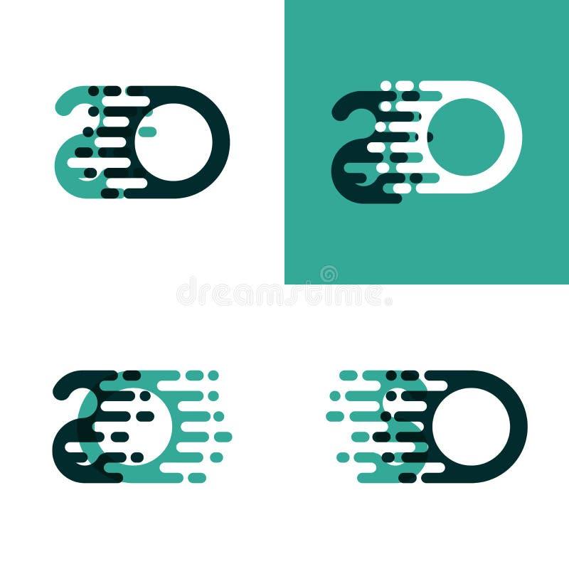 ТАК помечает буквами логотип с акцентом для того чтобы быстро пройти в салатовое и темное ом-зелен бесплатная иллюстрация