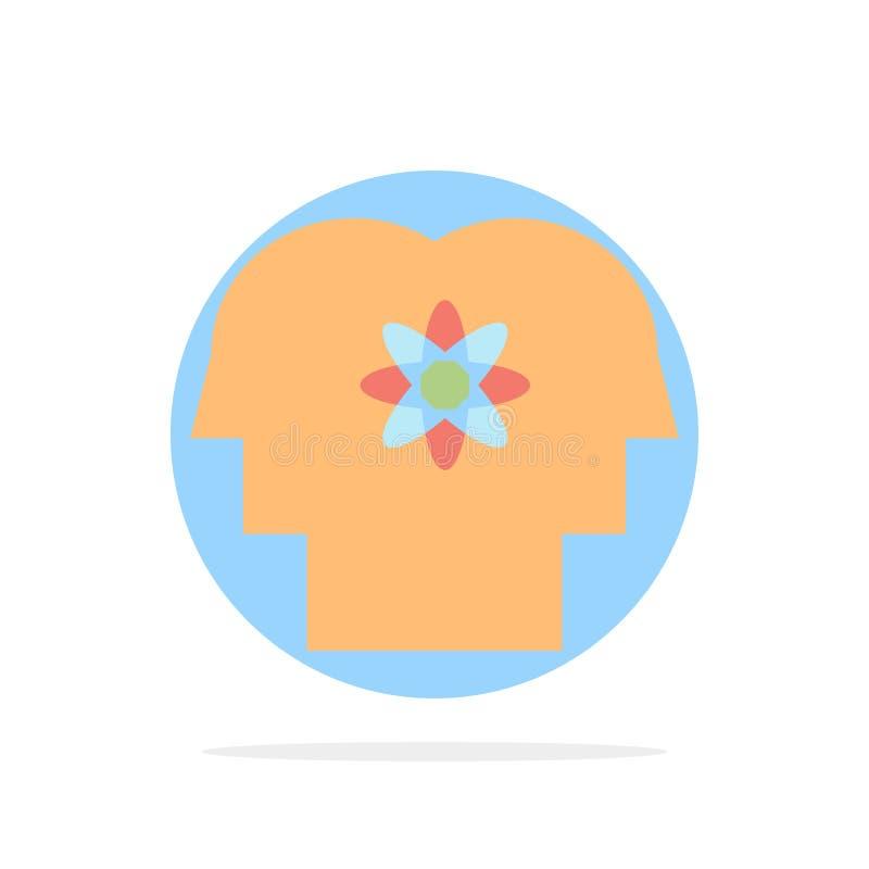 Талант, человек, улучшение, управление, предпосылки круга людей значок цвета абстрактной плоский бесплатная иллюстрация