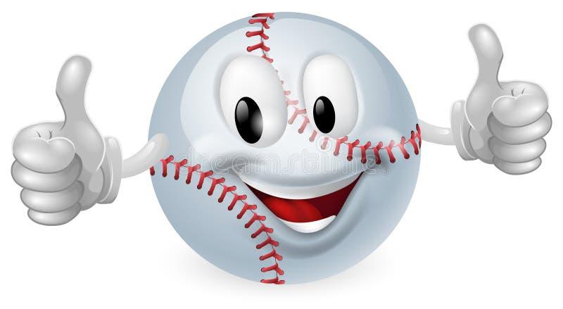 талисман бейсбола шарика иллюстрация штока