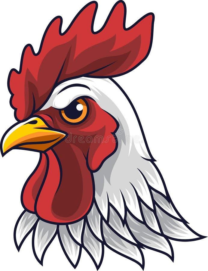 Талисман головы петуха цыпленка бесплатная иллюстрация