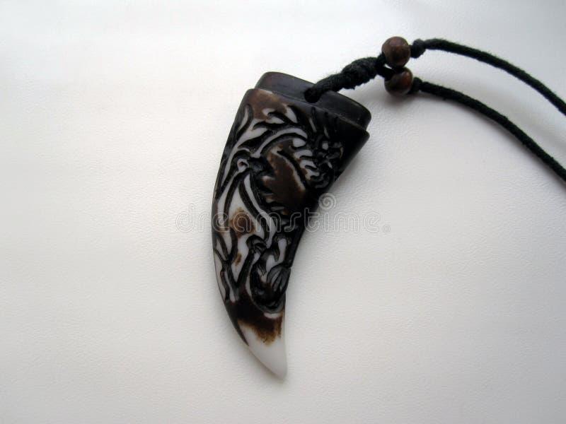 Талисман когтя или зуба стоковое изображение