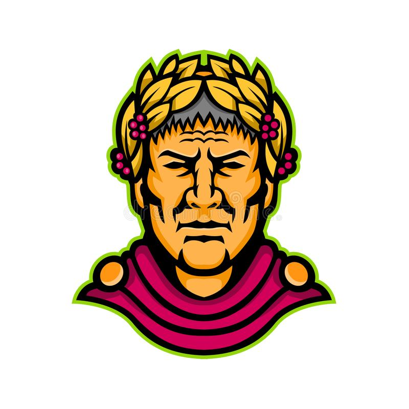 Талисман Gaius Жулиус Чаесар бесплатная иллюстрация