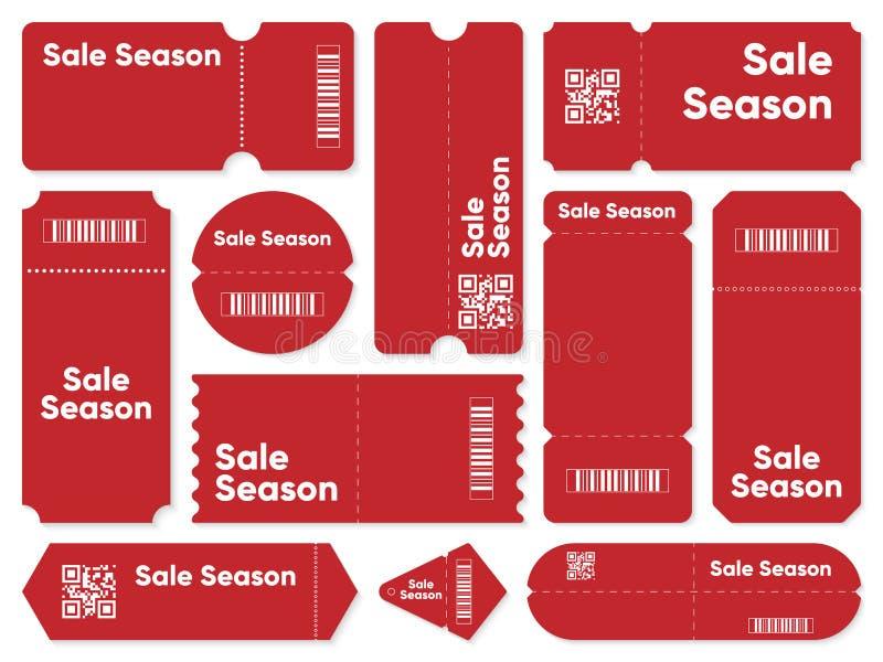 Талоны с сочинительством сезона продажи иллюстрация вектора