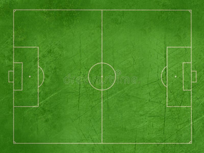 Тангаж футбола или футбола Grunge бесплатная иллюстрация