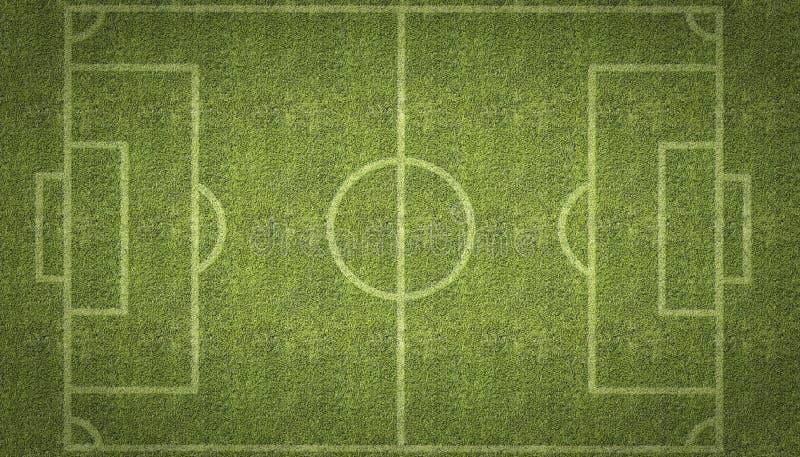 Тангаж футбола футбола иллюстрация вектора