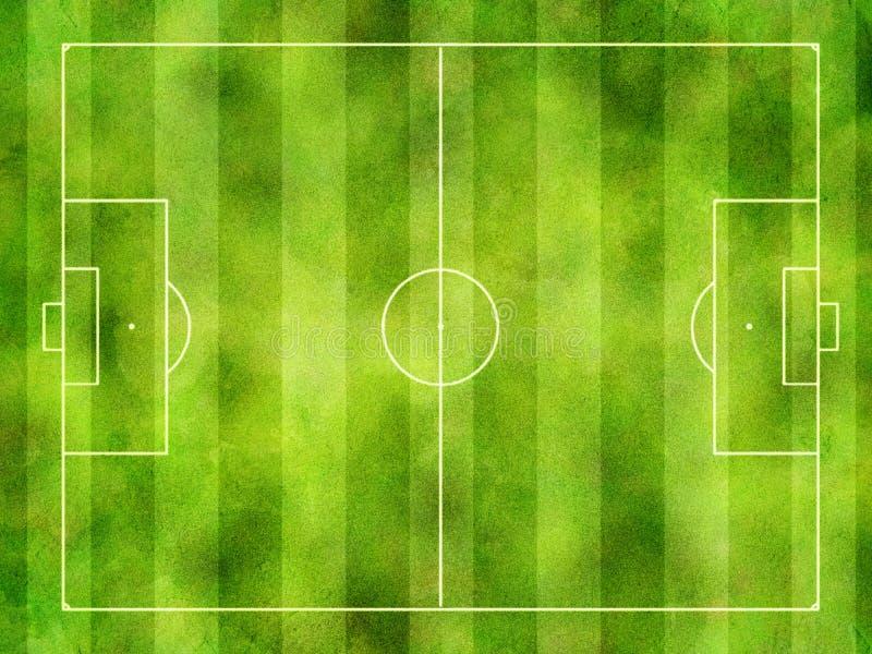 Тангаж футбола стоковое изображение rf