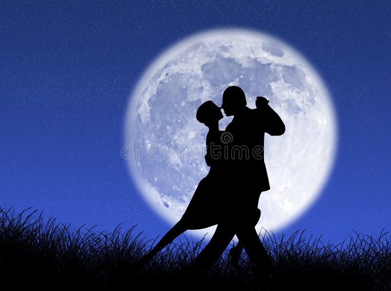 танго луны иллюстрация штока