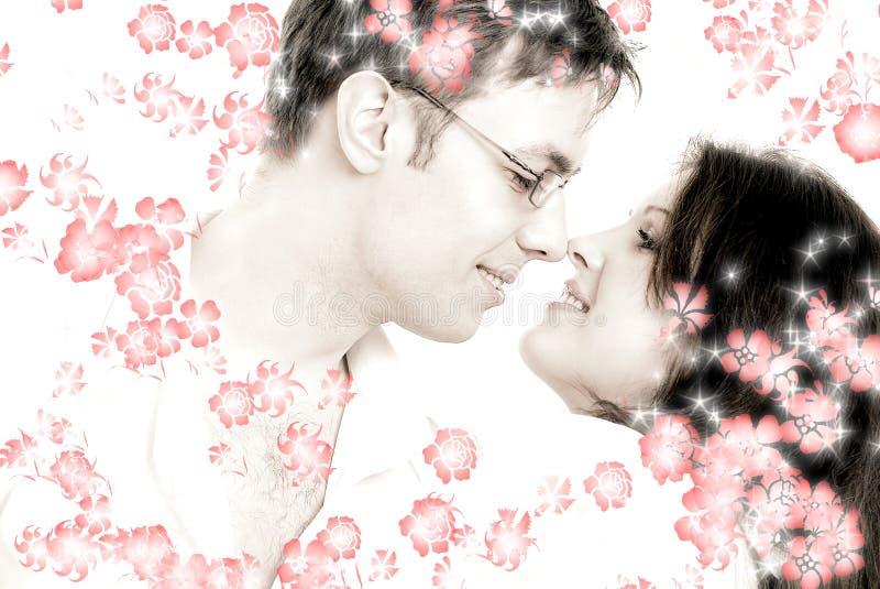 Танго с красными цветками стоковое фото rf
