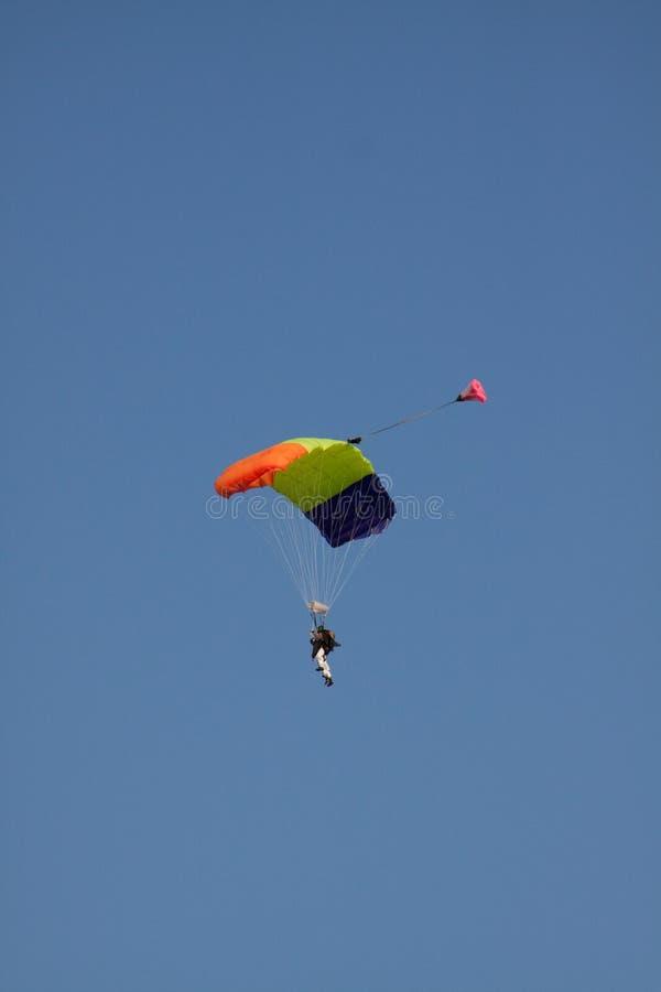 тандем skydiver стоковое фото rf