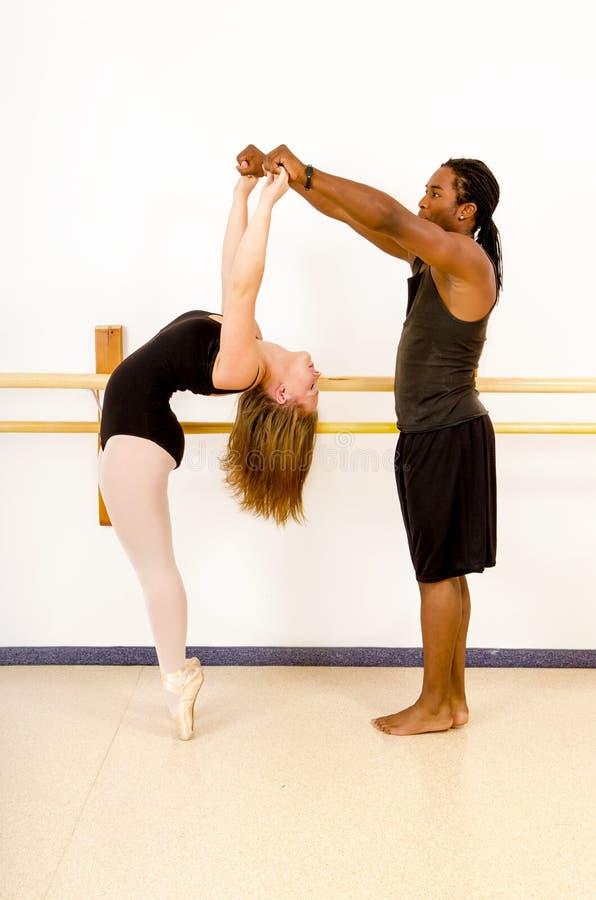 Танец балета будет партнером па-де-де стоковые изображения rf