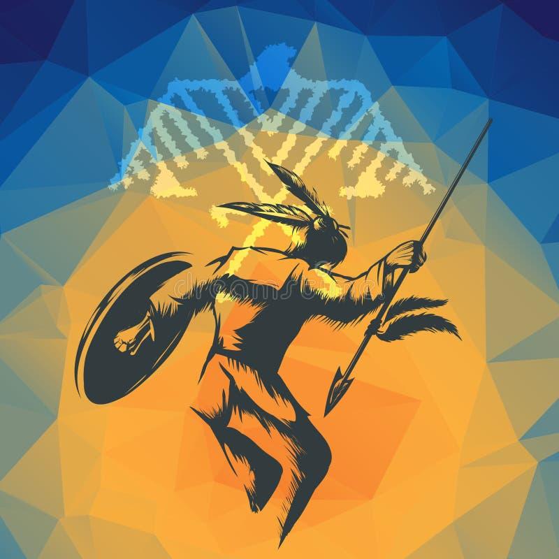Танец войны коренного американца бесплатная иллюстрация