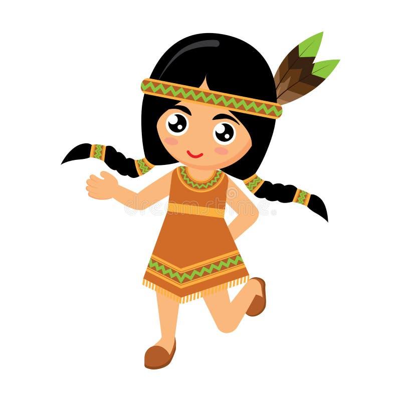 Танец девушки американский индийский стоковое изображение