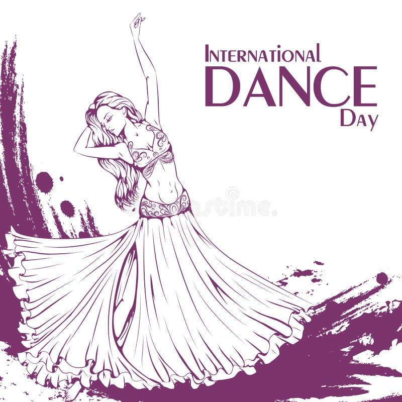 Танец живота дня танца иллюстрация штока
