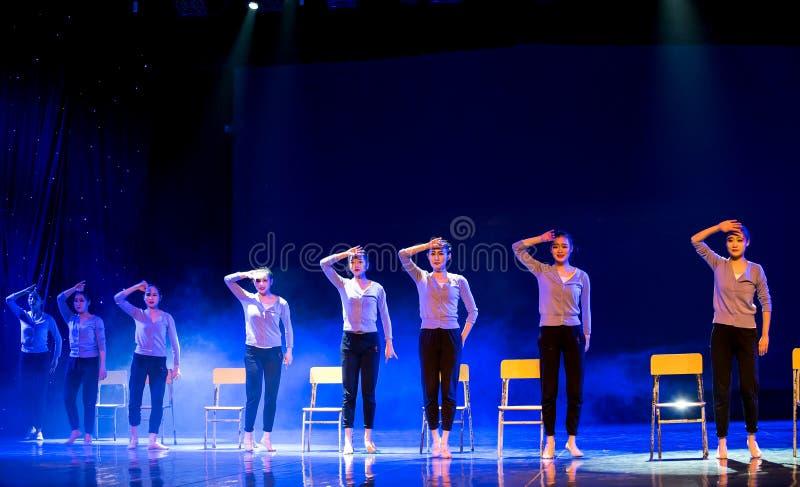Танец курс-Класс-кампуса тренировки тела стоковые фото