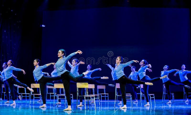 Танец курс-Класс-кампуса тренировки тела стоковое изображение rf