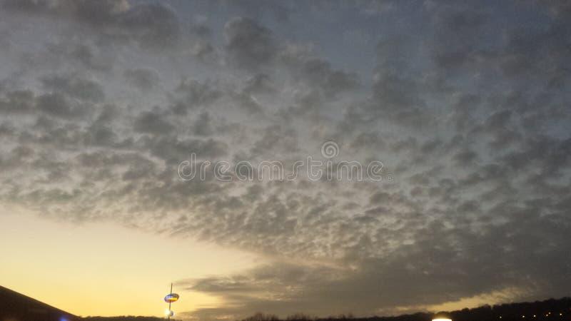 Танец облаков стоковые фотографии rf