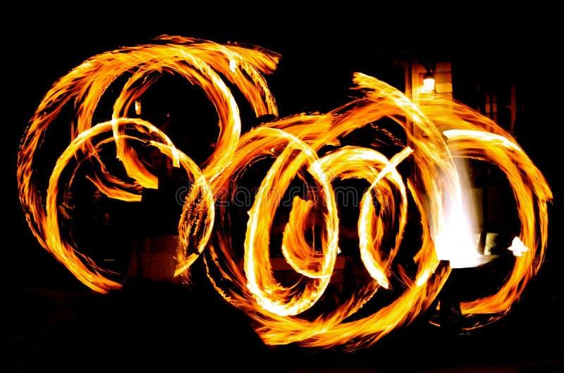 Танец огня стоковая фотография rf
