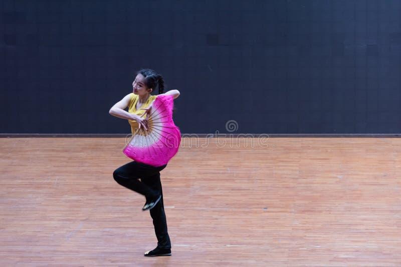 Танец рудоразборки танцора водя 2-Tea - уча репетиция на уровне отдела танца стоковая фотография rf