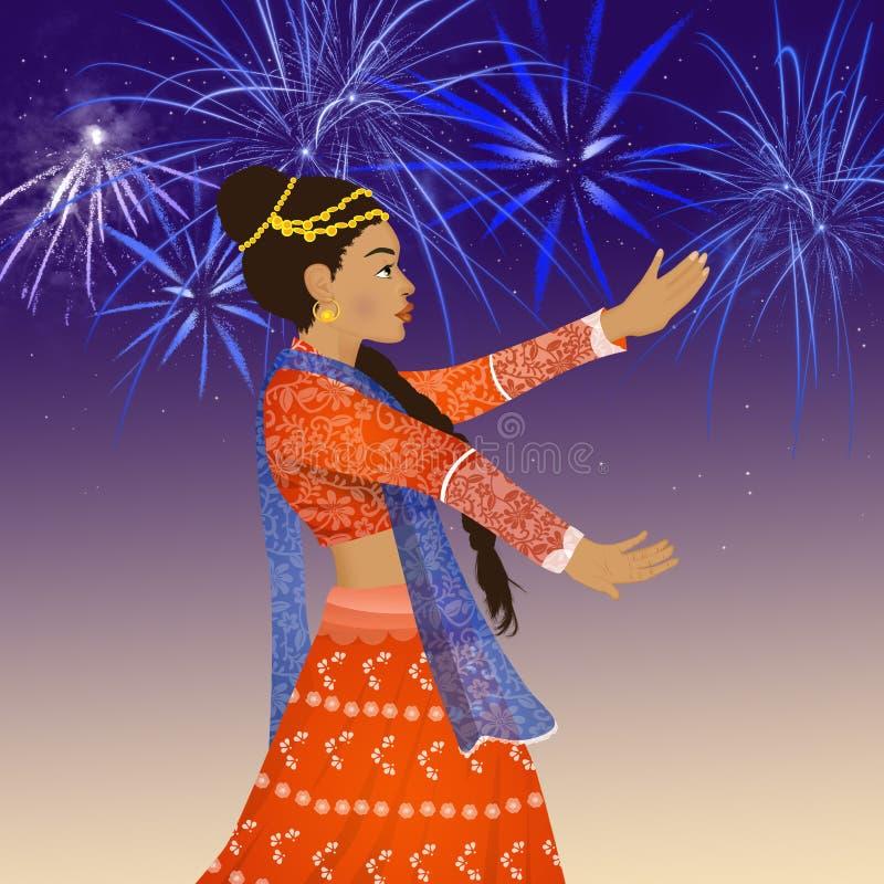 Танец фестиваля Bollywood бесплатная иллюстрация