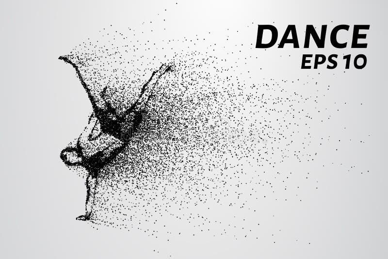 Танец частиц Breakdance состоит из малых кругов также вектор иллюстрации притяжки corel стоковая фотография rf