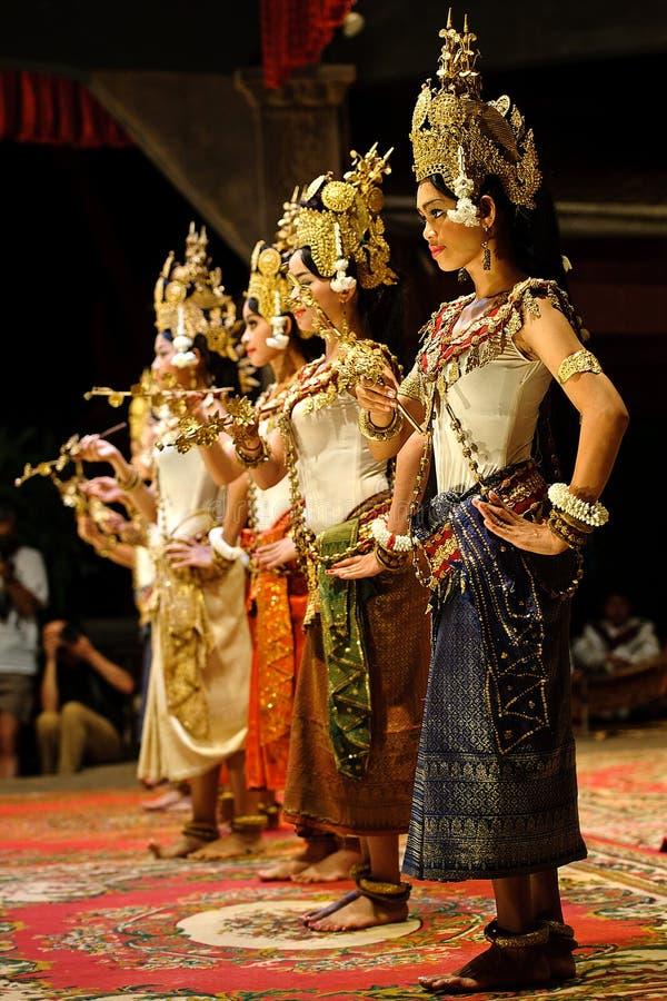 Танец Apsara стоковая фотография