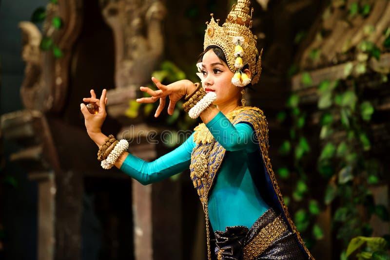 Танец Apsara стоковая фотография rf