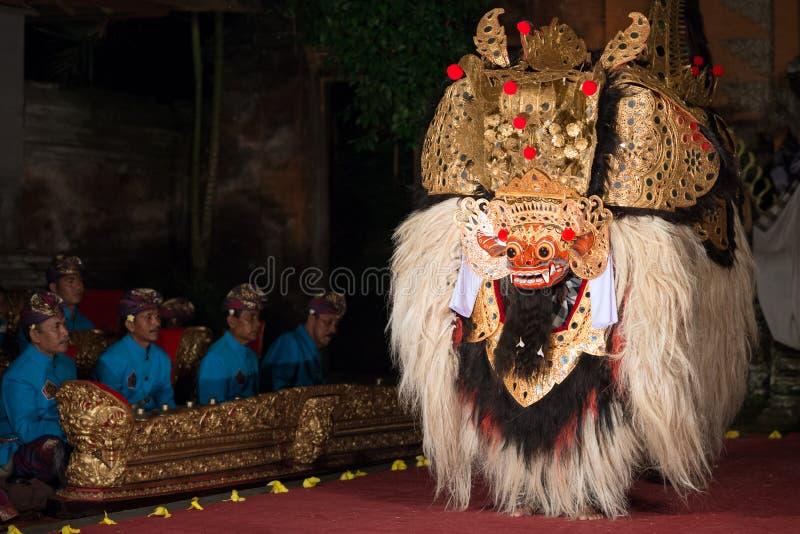 Танец Barong в Бали стоковая фотография rf