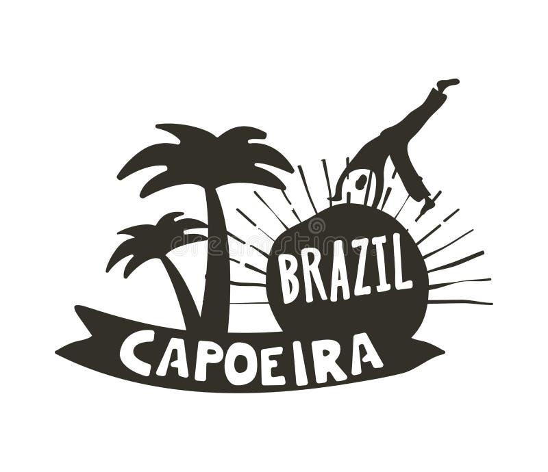 Танец Capoeira бразильский плаката африканского происхождения бесплатная иллюстрация