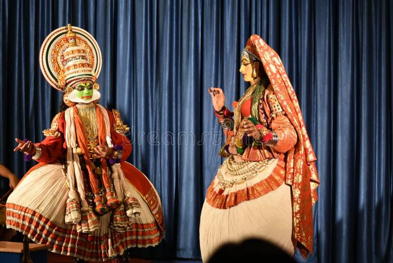Танец Kathakali классический, Thekkady, Керала стоковое изображение