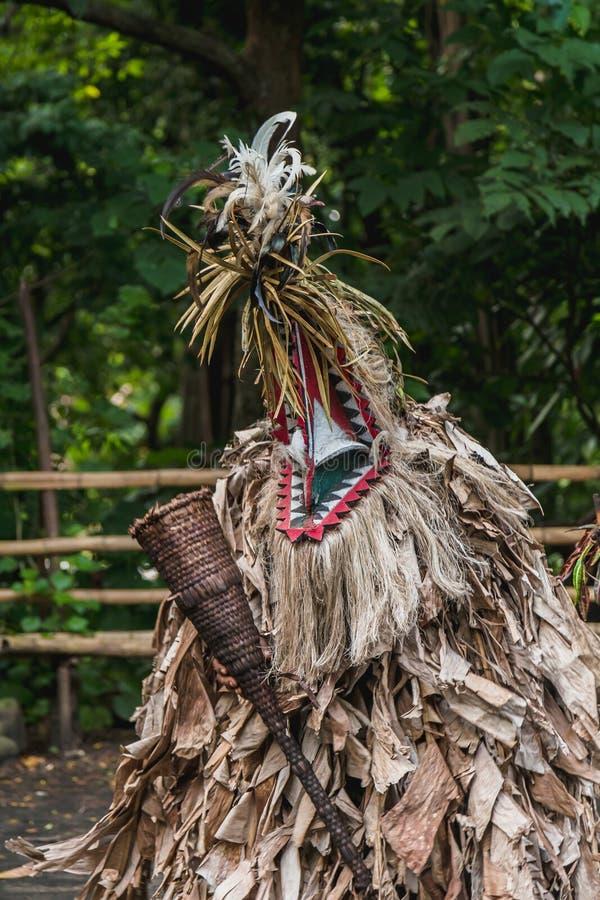 Танец Rom изготовленный на заказ, племя Fanla, северное Ambrym, Вануату стоковое фото rf