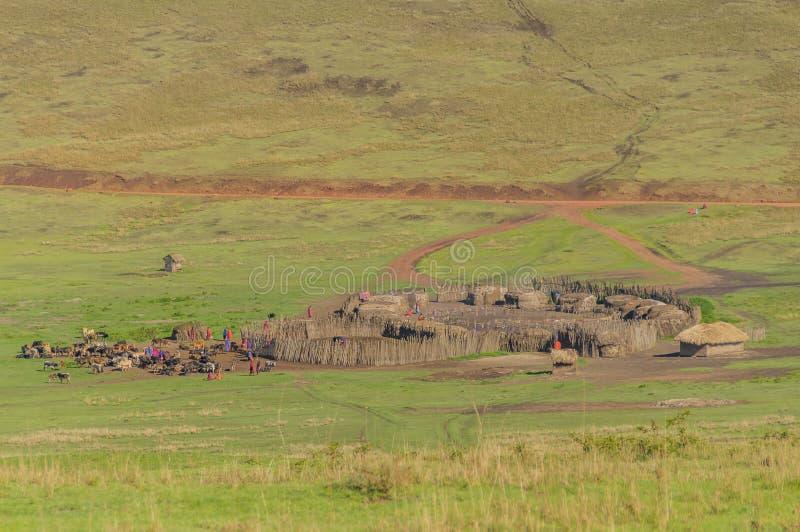 Танзания - зона консервации Ngorongoro стоковые изображения