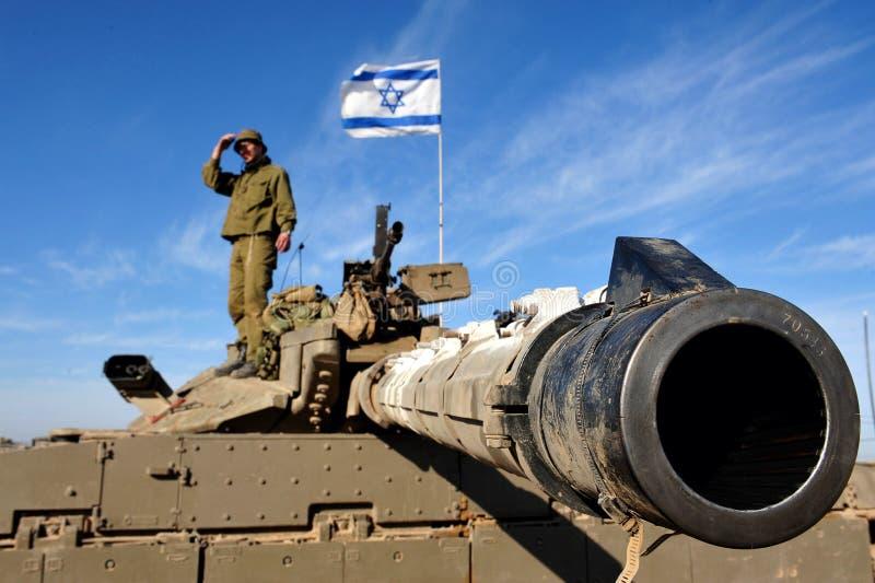 Танк армии Израиля стоковые изображения