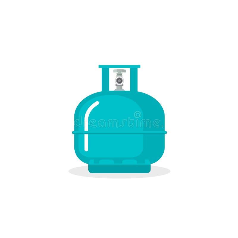 Танк вектора баллона Контейнер значка бутылки пропана Lpg Хранение горючего банки баллона кислорода бесплатная иллюстрация