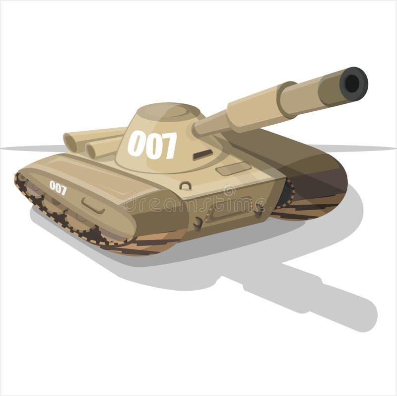 Танк 007 в stile шаржа стоковое изображение