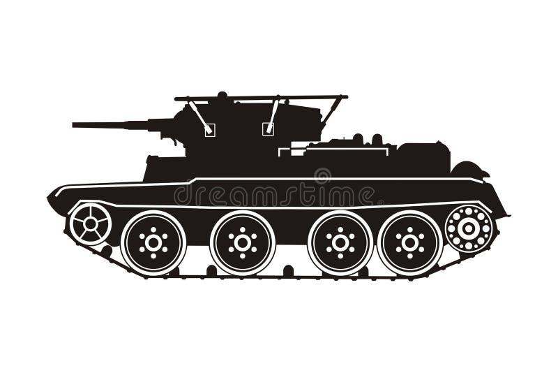 Танк BT-7 иллюстрация вектора