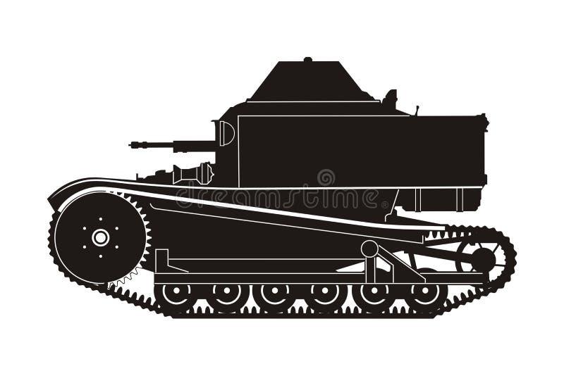 Танк T-27 иллюстрация вектора