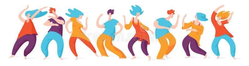 Танцевать 5 ритмов Танцуя люди Люди и танцы женщины бесплатная иллюстрация