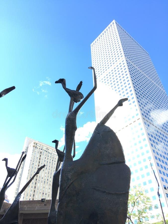 Танцевать скульптур стоковое изображение